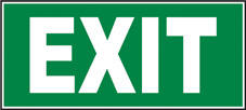 SAFETY SIGN (SAV) | Exit